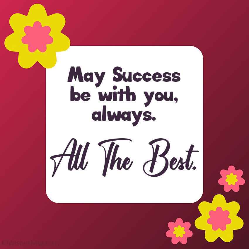 Best Wishes for Success