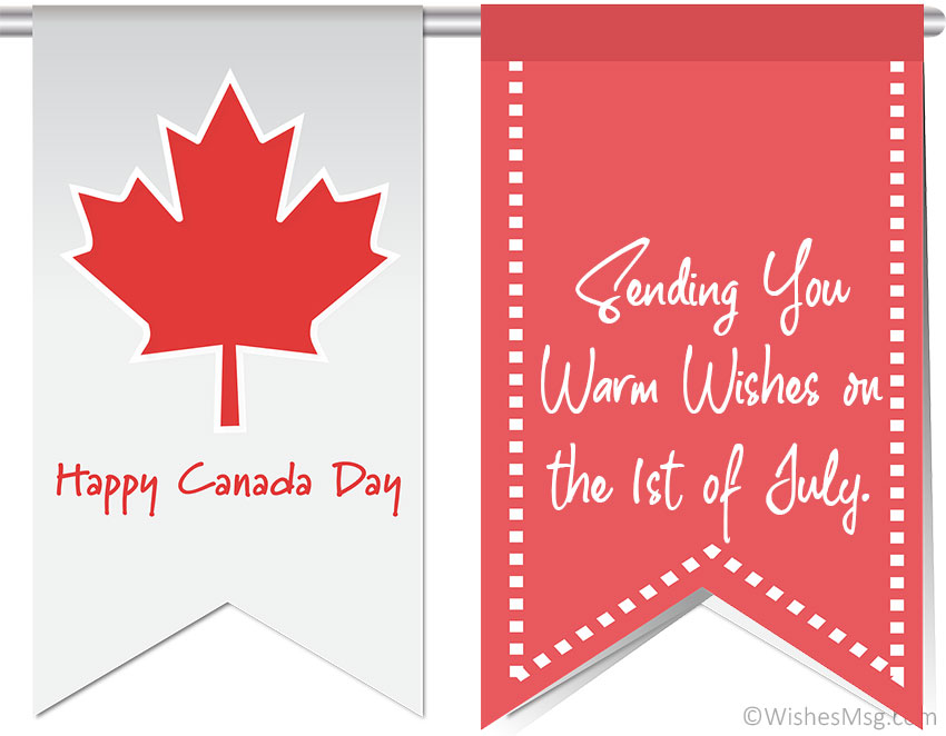 Canada Day Wishes for Family and Friends