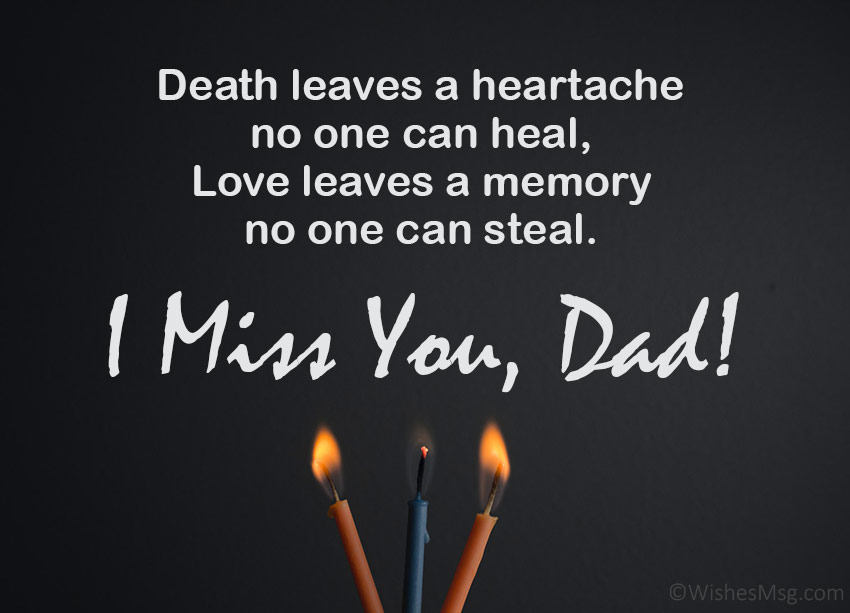 Miss you dad messages after death
