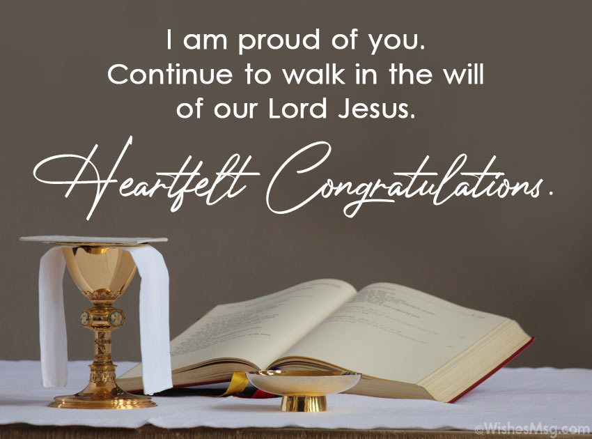 Holy Communion Card Message