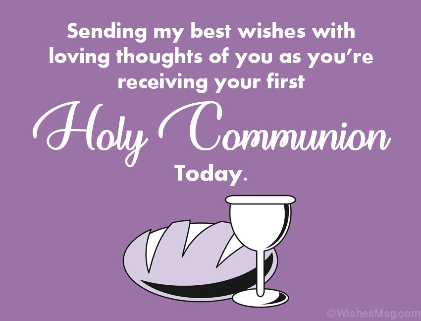 First Communion Card Message