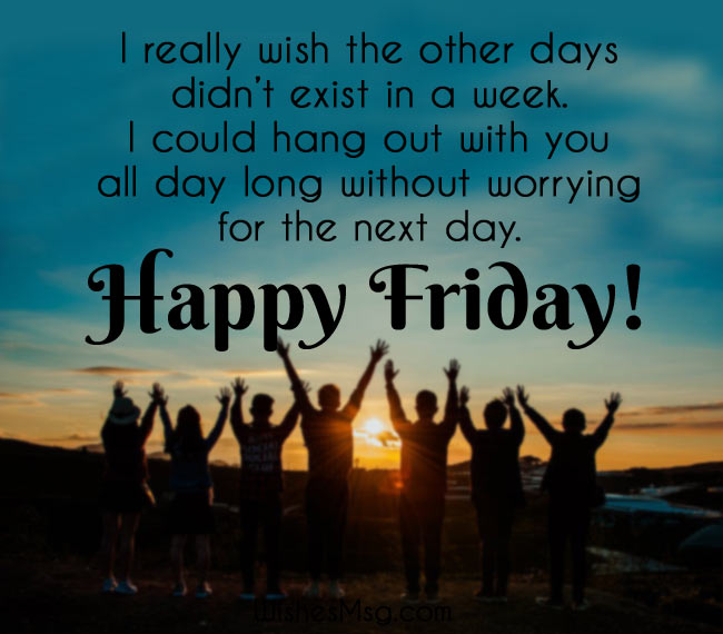 Friday Wishes and Messages For Friends