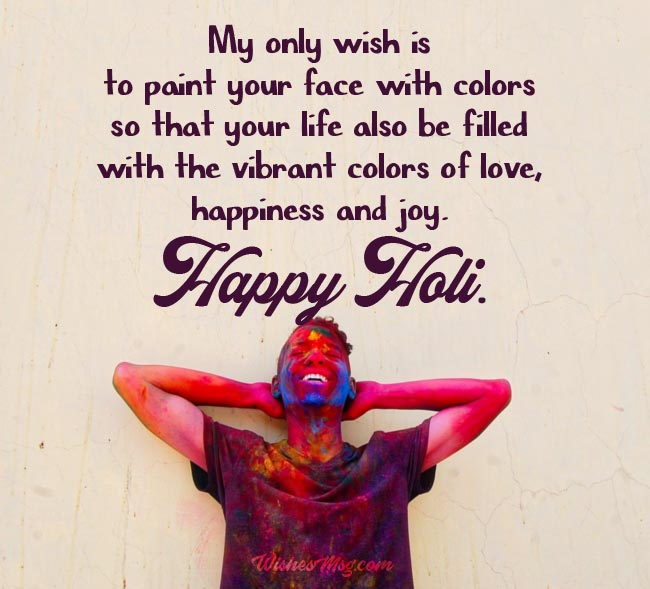 Holi Wishes for Whatsapp and Facebook Holi Status