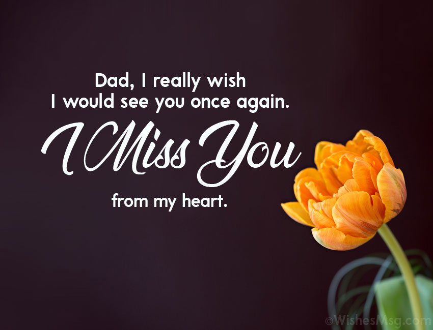 I Miss You Messages For Dad After Death From Daughter
