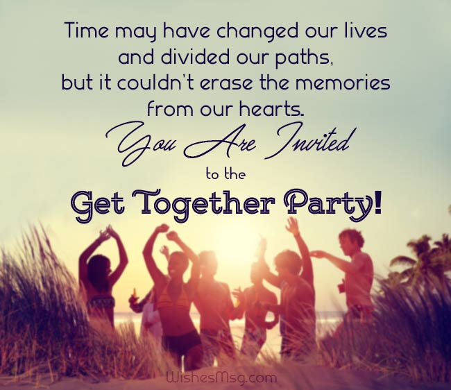 Invitation Messages for Party of Get Together