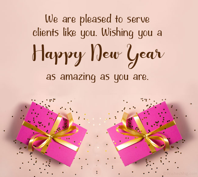 New Year Wishes to Clients