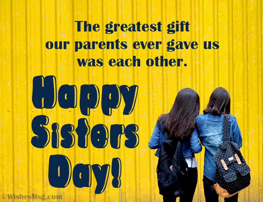 happy sister day quotes