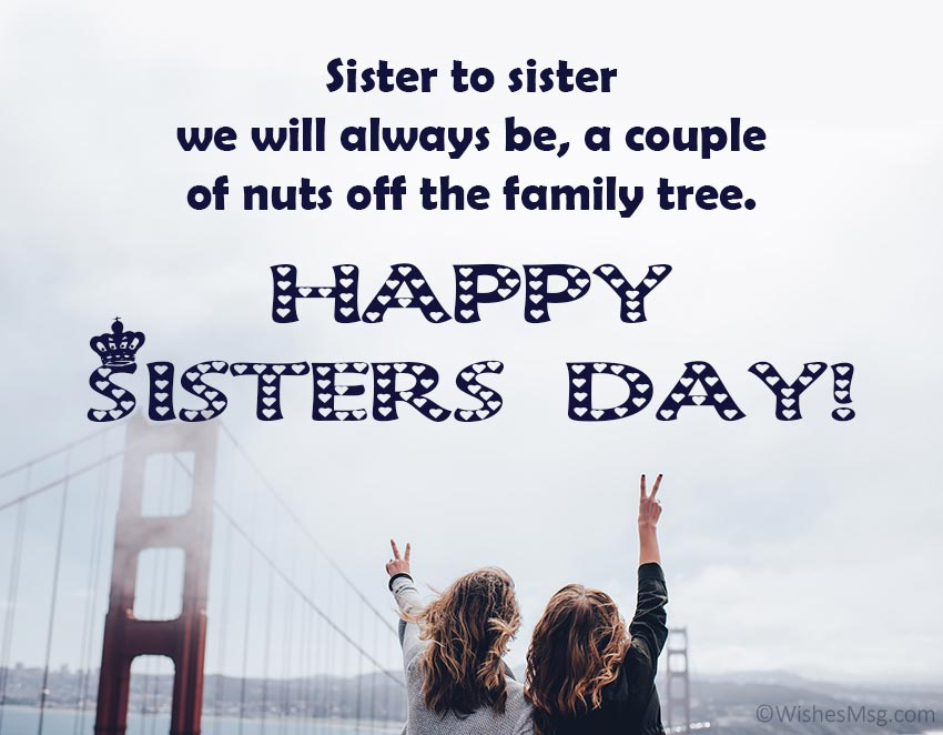 Sister's Day Message From Sister