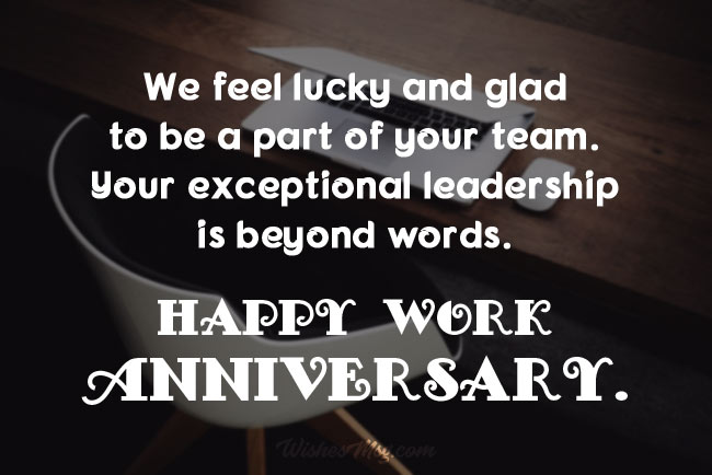 Work Anniversary Messages For Boss