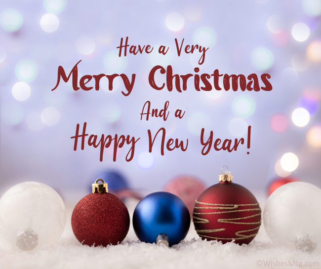 christmas and new year message