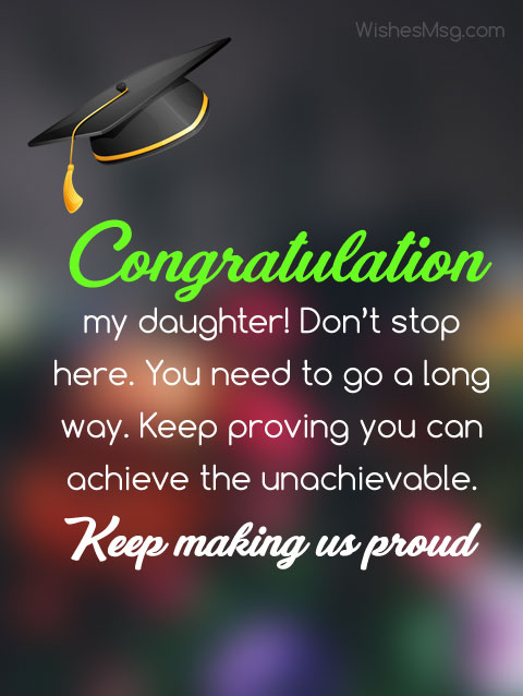 graduation messages for daughter