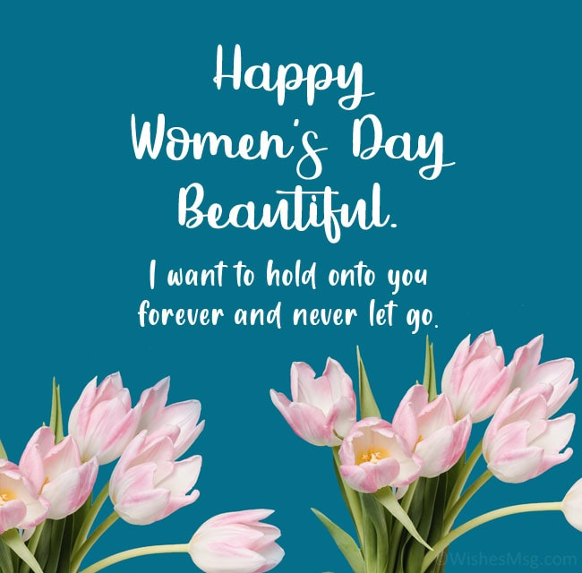 happy women's day msg for gf