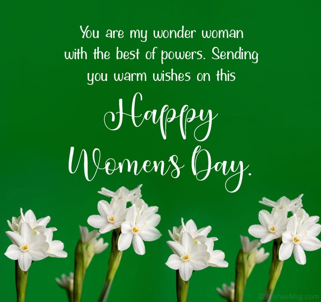 happy women's day wishes for wife