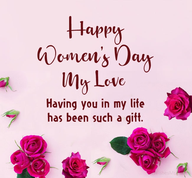 women's day wishes to girlfriend