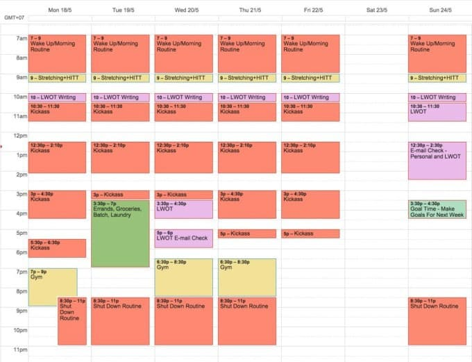 My Organized Productive Schedule for Success