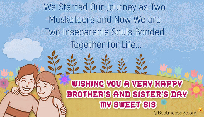 Best Brother and Sister's Day Wishes Images and Photos