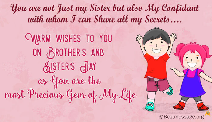 Brother and Sister's Day Wishes Images Pictures and Photos