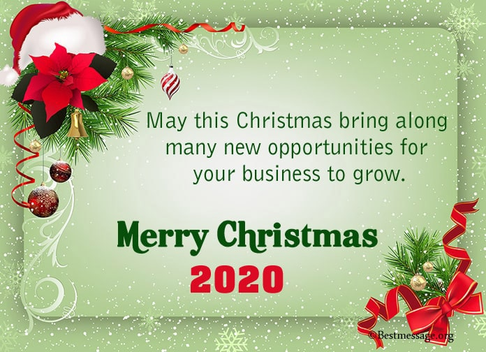 christmas card messages, Business Christmas Greeting message
