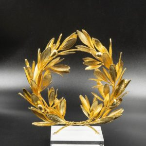 gold plated olive wreath