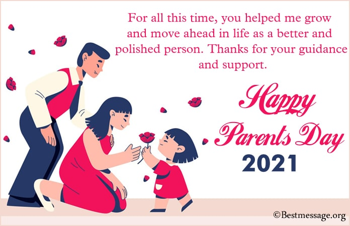 Parents day celebration messages 2021, Wishes