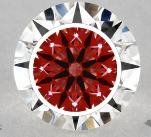 round cut diamond arrows pattern for True Heart collection by James Allen