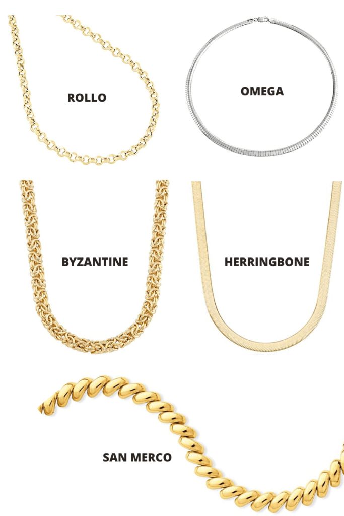 Less known types of necklace chains