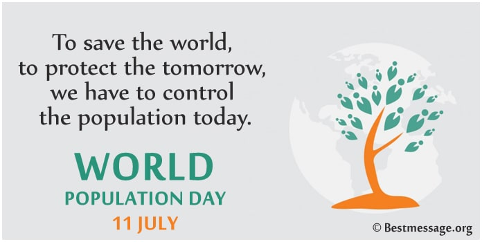 World Population Day July 11 Messages Image