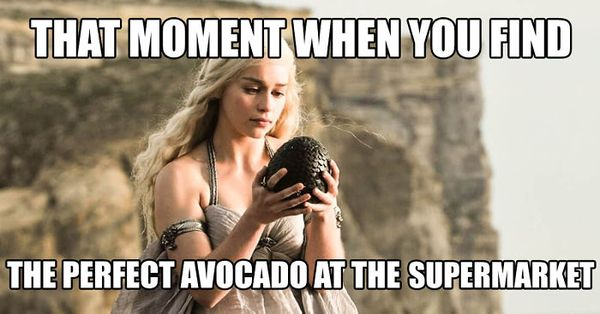 That moment when you find the perfect avocado at the supermarket