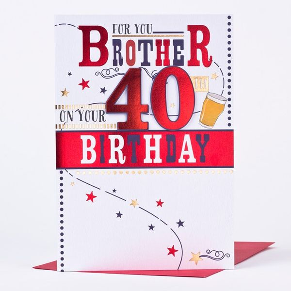 For You Brother on Your 40 Birthday
