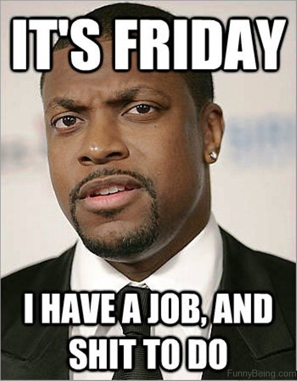 I Have A Job And Shit to Do Friday Meme