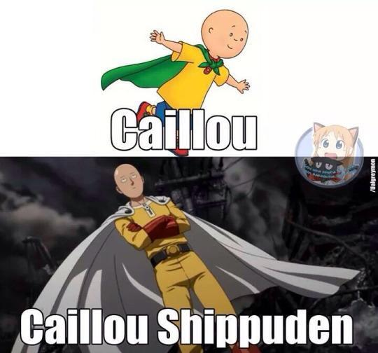 caillou one punch man meme