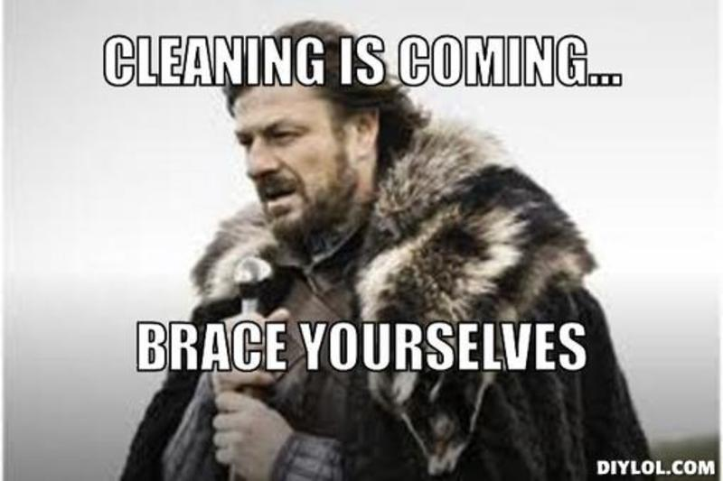 cleaning spring meme