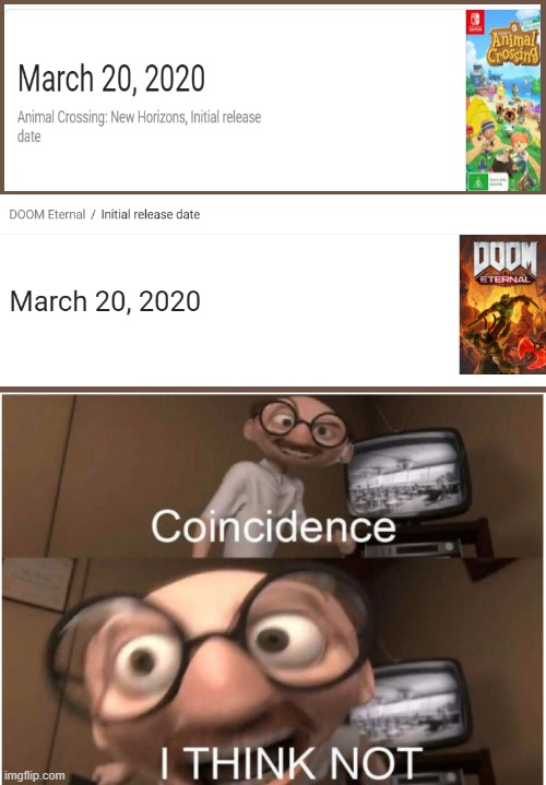 coincidence i think not meme doom and animal crossing