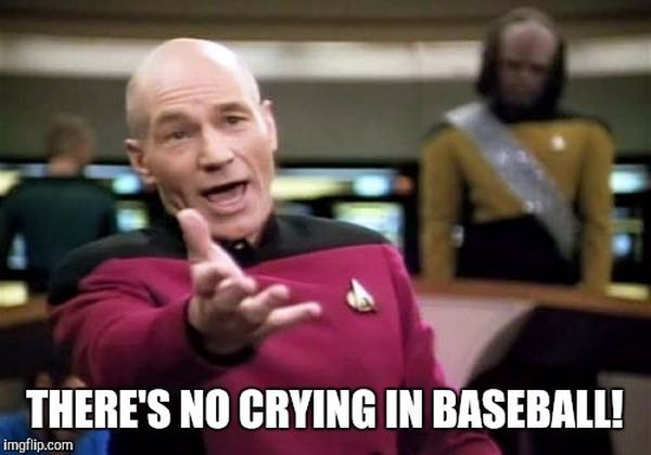 common about no crying in baseball meme