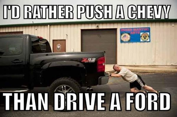 common chevy vs ford memes