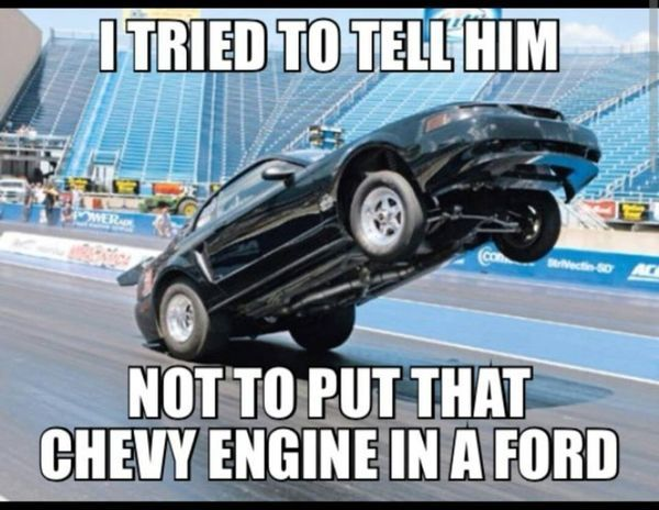 cool chevy vs ford memes
