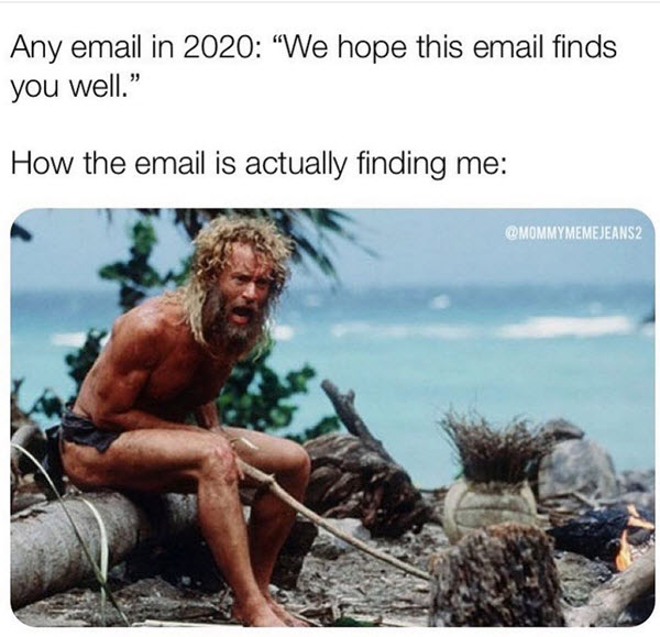hope this email finds you well 2020 memes