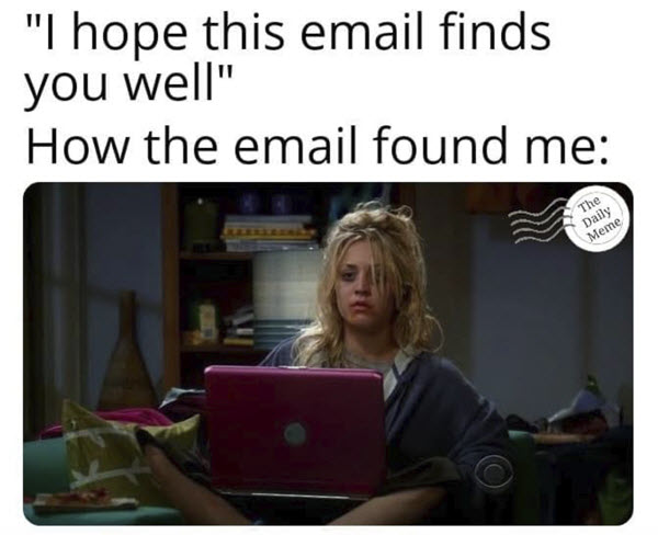 hope this email finds you well cry memes