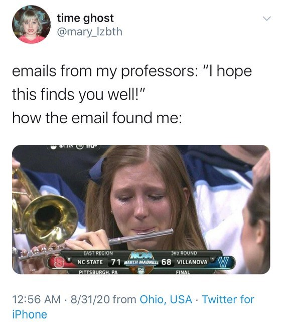hope this email finds you well emails from my professors memes