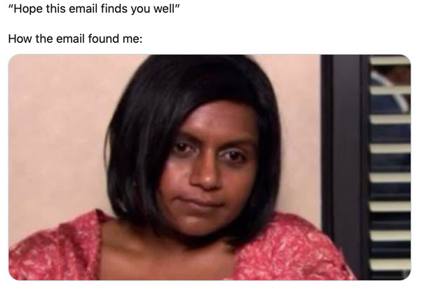 hope this email finds you well found me memes