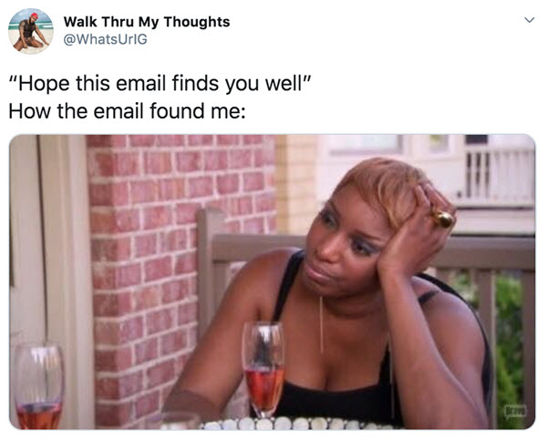 hope this email finds you well me memes
