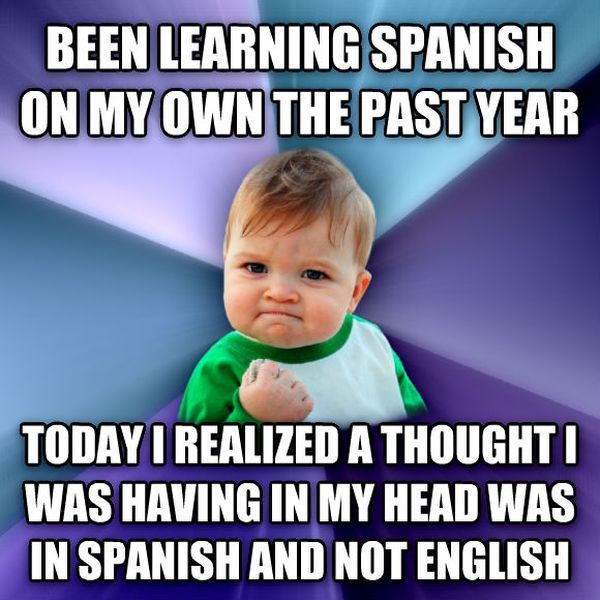 how to learning spanish meme
