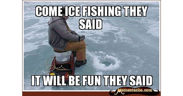 Magnificent ice fishing meme