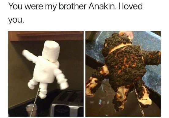 marshmallow meme you were my brother anakin
