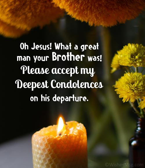 religious sympathy quotes for loss of brother