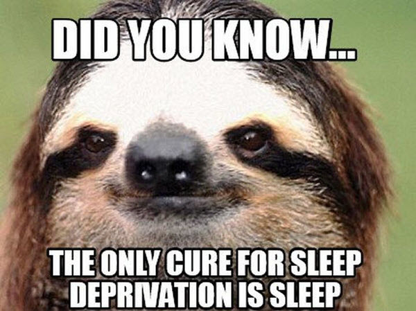 sleep deprivation meme did you know