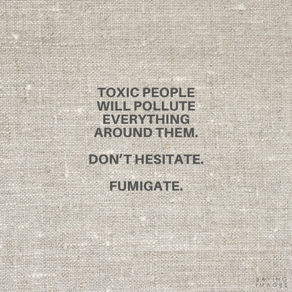 toxic friends fumigate quotes