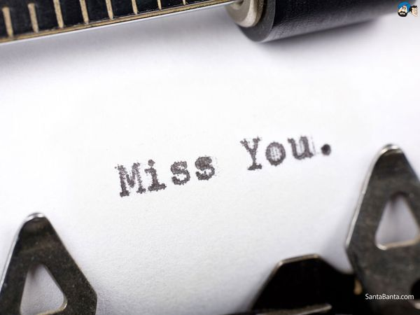 typed miss you meme