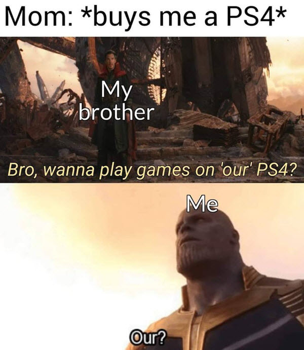 video games meme our ps4