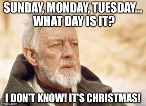 what day is it christmas meme
